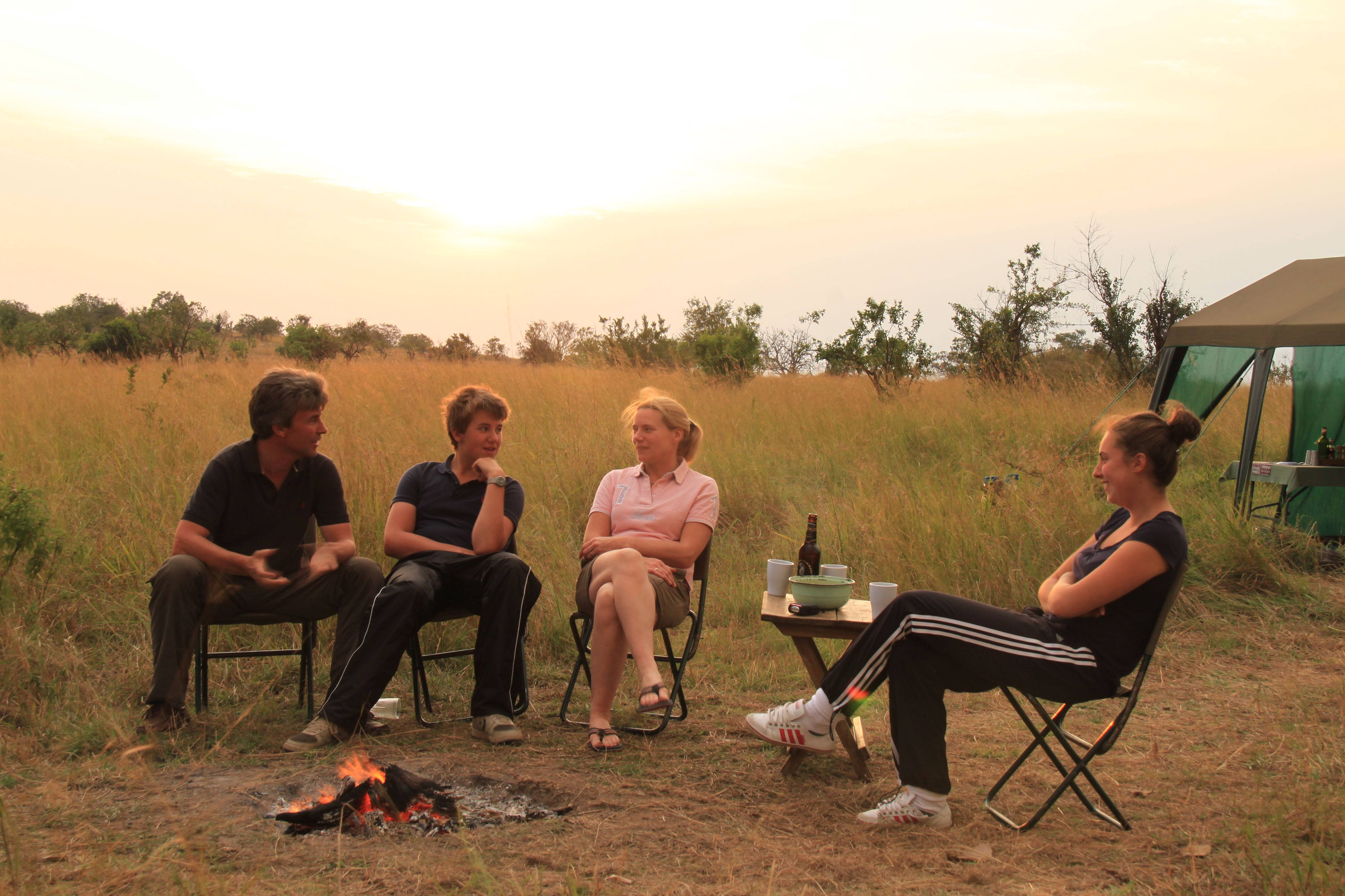 Time to relax after a fantastic gamedrive in Serengeti National Park