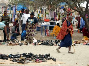 Local market in Mto Wu Mbu, near Lake Manyara National Park