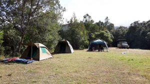 Public campsite in Tanzania